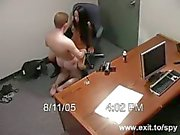 Sex Lunch with my ex secretary on security cam