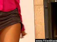 Secetaries fucked in ripped pantyhose