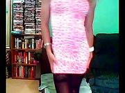 Nikki Nicole In Pink Dress