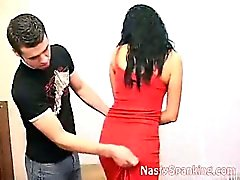 Spanking amateur couple