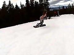 Bösen Dicke Titten Luder auszuprobieren snow boarding beim nackt