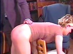 Spanked in his Office