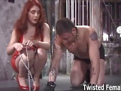 Felix the slave destroyed by a dominatrix