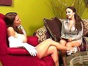 Nylon Stockings VS Pantyhose - Fetish lesbo domination