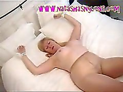 British BBW Slut Tied Up And Bound In Tan Pantyhose