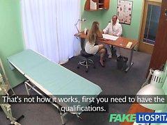 Büyük eşek ile FakeHospital Hemşiresi berbat bir ile sikikleri doktor