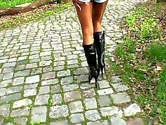 LGH - Tyska Tamia - Outdoor kängor und Glanz Strumpfhose