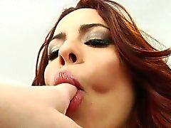 Rimjob Redhead aimant se lécher le cul