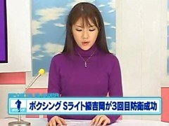Sweet little angel news anchor bukkake and creampied at the end