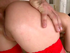 Brunette pornstar hardcore anal and facial