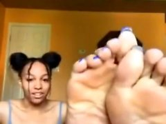 Ebony black nurse with a foot fetish remedy
