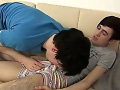 Twink movie Horny UK buds deep-throat down fountains of stif