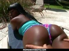 Fat Ass Black Mama Kali Dreams Fucked By Young Stu
