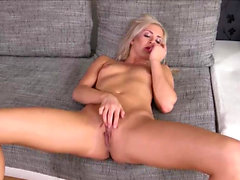 Horny Petite Teen Solo Finger Pussy