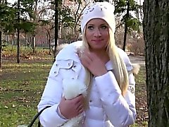 Winter time pickup with flashing blonde