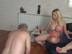 Goddess Barbie dominate and humiliate her cuckold hubby and another slave