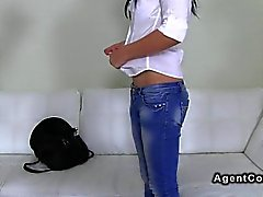 Czech amateur fucks fake agent in an office