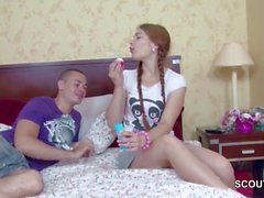 Extrem Cute Step-Sister get First Fuck and Facial by Bro