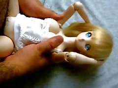 Blonde cute anime Dollfie onahole bambola di scopare
