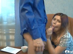 Horny secretary gets a pounding from her boss