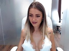 Busty girl flashing boobs on webcam
