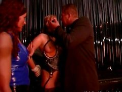 Kinky couple having fun with nasty blonde