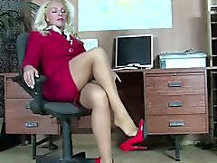 collants diabolique blonde sexy
