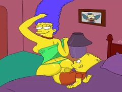 Cartoon Simpsons Porno porno Marge baise son fils Bart