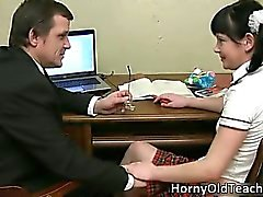 Cute face brunette schoolgirl part5