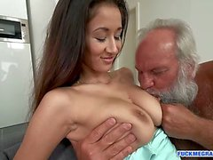 Teen Slut Riding Grampas Cock