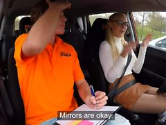 Fake Driving School Blonde learner Amaris