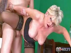 Deanna is a horny blonde granny that likes that hard young cock