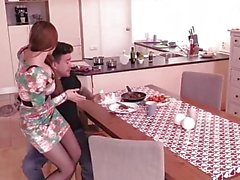 Steak and Blowjob - Horny Kitana Lure giving head in the kitchen