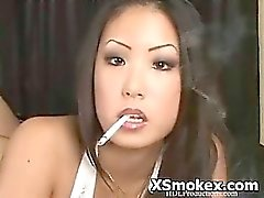 Hot Busty Woman Fetish Smoking Nasty