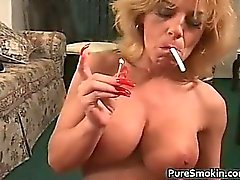 Enormous Boob Smoking oral sex