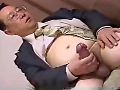 japan daddy have big cock wanking