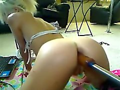 Amateur Blonde Whore With A Machine