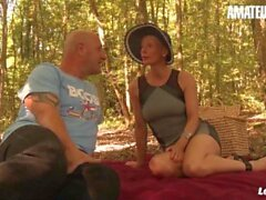 'LaNovice - Mia Wallace Amateur French MILF Fucked In The Ass During Public Picnic'