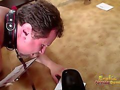 Slave Begs Master And Helper To Discipline Him