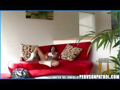 Babysitter spy cam catches her blowing and banging her boyfriend