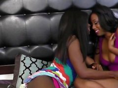 Fine ass black sluts agree on eating each others horny cunts