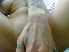 Close up solo beauty toying her ass and fingering her pussy