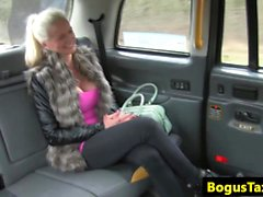 Tittyfucking euro plowed by uk taxi driver