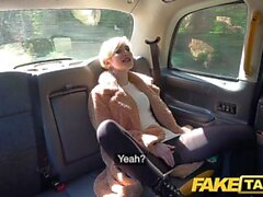 Fake Taxi Lucky mature guy eats hot pussy and creampies blonde sexy student