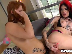TS Babe Chelsea Marie Having Fun With A Girl
