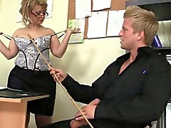Office sex with lovely old women