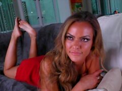 'Gold Digger Step Mom Aila Donovan Will Give Her New Step-son a Handy & let him jizz her face In Order To Keep the Money