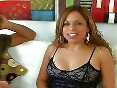 Pretty latina Emily Rose picked up and fucking