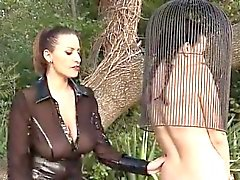 BDSM of sweet babe enjoying all fetish things