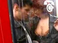European amateur fucked in public stairways